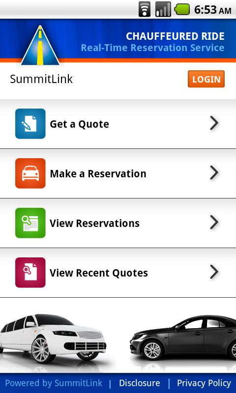 SummitLink Chauffeured Rides - screenshot