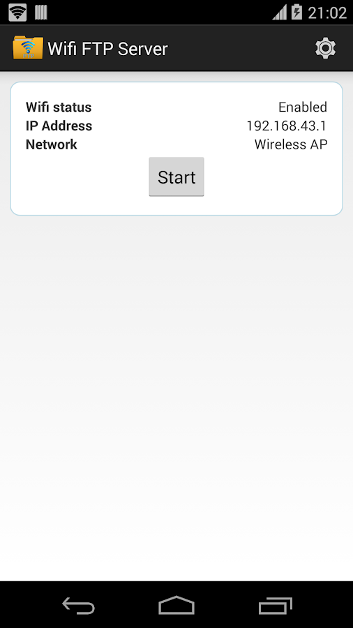 WiFi FTP Server - screenshot