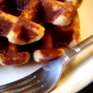 Almond Flour Coconut Waffles.
