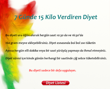 7 Gunde 15 Kilo Verdiren Diyet Apps No Google Play