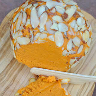 Kick Ace Extra Sharp Raw Vegan Holiday Cheddar Cheese Ball