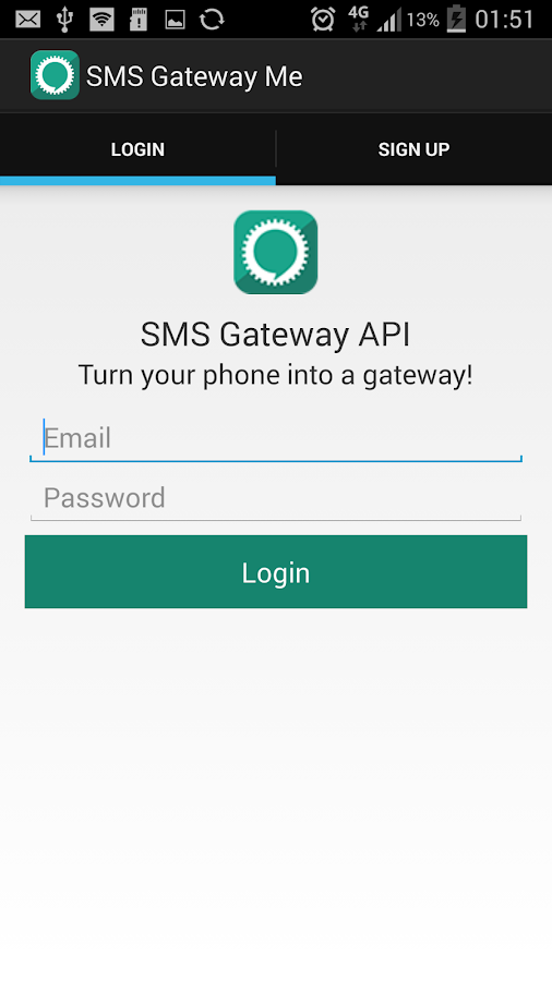 SMS Gateway API- screenshot