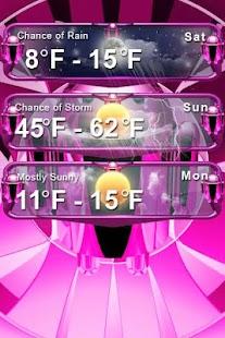 玩天氣App|美麗的天氣部件粉紅免費|APP試玩