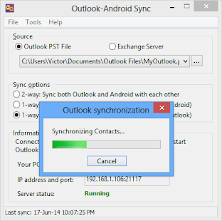 Outlook-Android Sync – Vignette de la capture d'écran