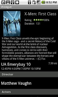 Movie Times for Android - screenshot thumbnail