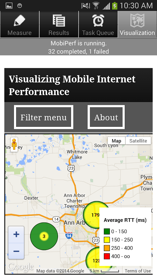 MobiPerf - screenshot
