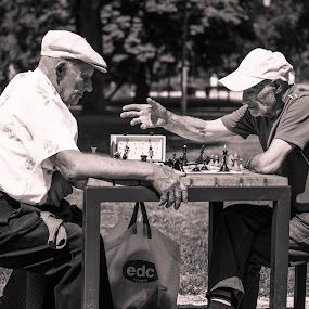 Check Mate  by Vaidotas Maneikis - Uncategorized All Uncategorized ( old men, street, chess, candid, game, people, black&white,  )