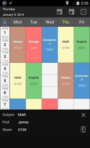 Handy Timetable 2.4.0 screenshots 2