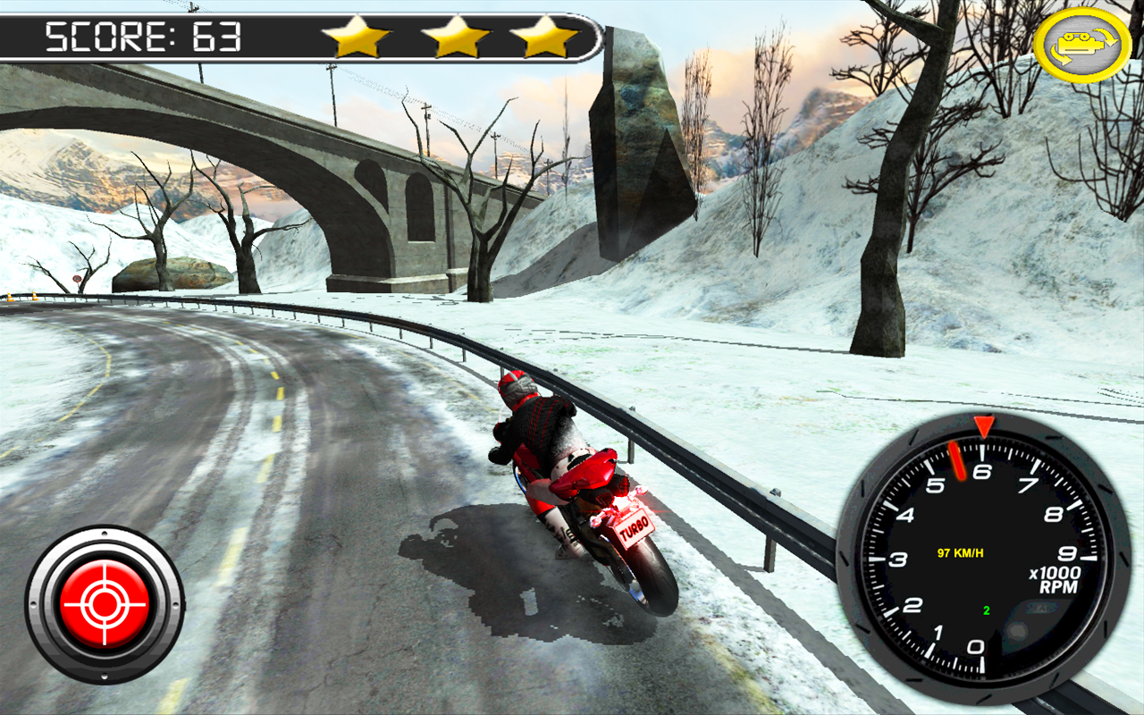 Bikes Racing On Highway Frozen Highway Bike Rider