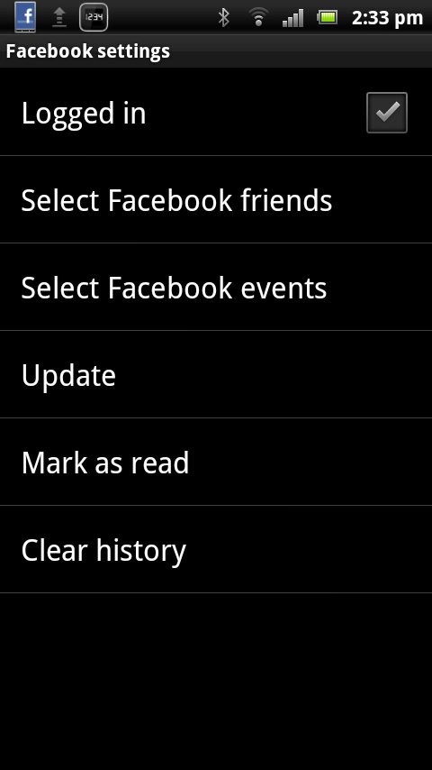 Smart extension for Facebook- screenshot