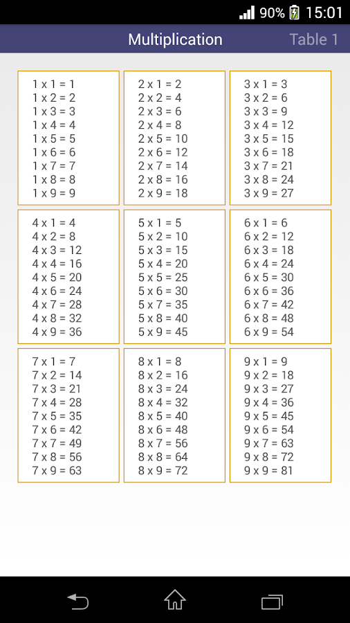 Worksheets 11to 20 Table multiplication table android apps on google play screenshot