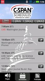 C-SPAN Radio - screenshot thumbnail