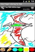 Screenshot of Finger Painting - Dinosaur