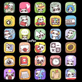 CUKI Themes Cute Panda Icons