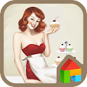 pinup girl cupcakes dodol icon