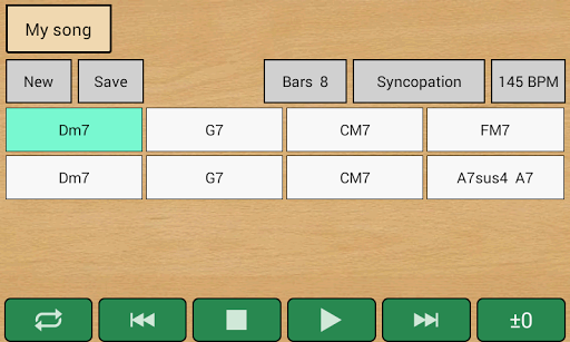 Guitar Chords Sequencer