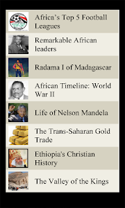 World Travel Lists - AFRICA screenshot 0