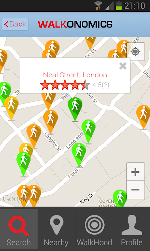 Walkonomics - Walkability App