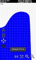 Screenshot of GPS Area Calculation