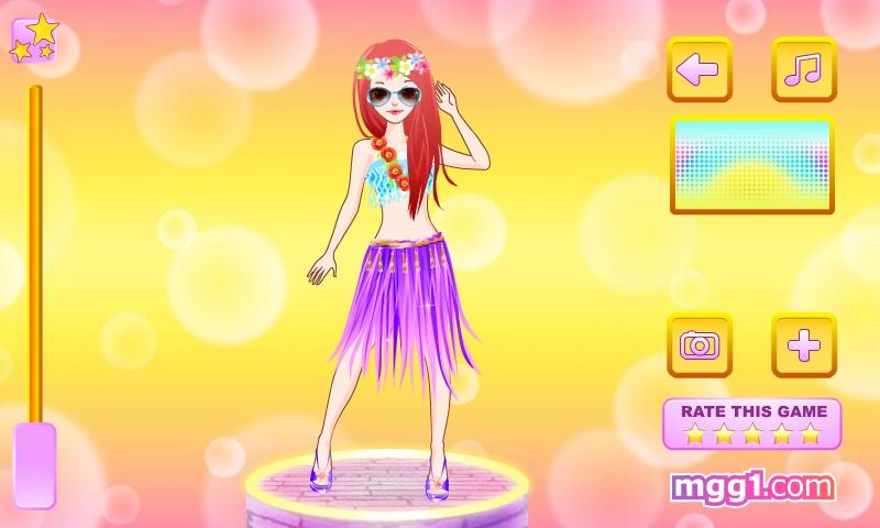 Cute Hula Dancer Dress Up - screenshot