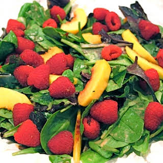Nectarine and Raspberry Salad.