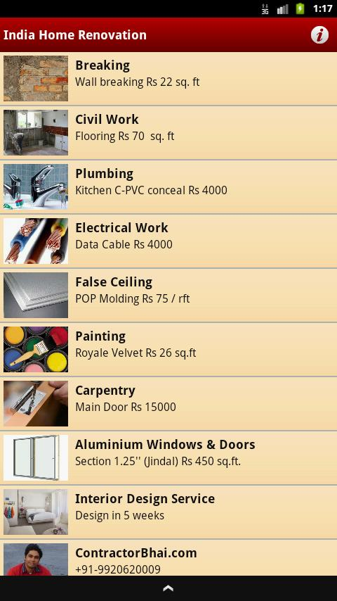 India Home Renovation - screenshot