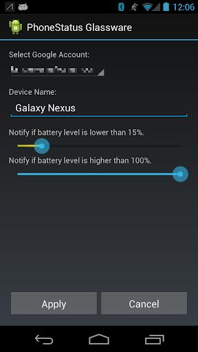 Phone Status Glassware