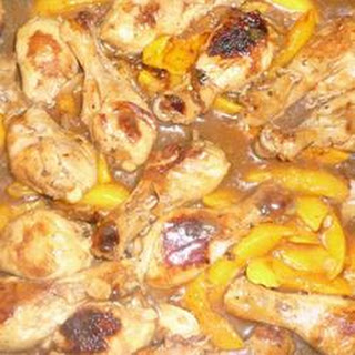 Drumsticks with Peach and Honey.