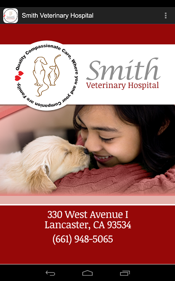 Smith Veterinary Hospital- screenshot