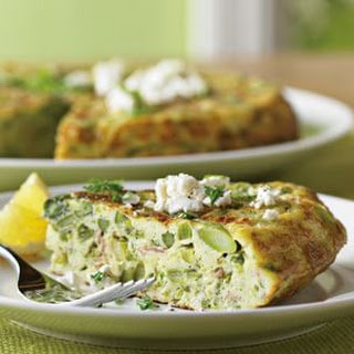 Asparagus and Goat Cheese Frittata.