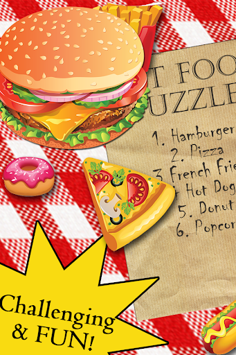 Fast Food Puzzle Game For Kids