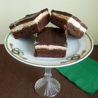 Irish Cream Brownies with Chocolate Irish Cream Ganache.