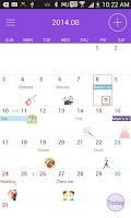 Screenshot of Naver Calendar