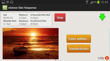 Screenshot of eSense Skin Response