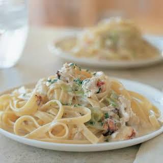 Tagliatelle with Crab and Tarragon.