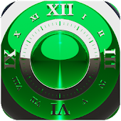 Green Deluxe Clock Widget