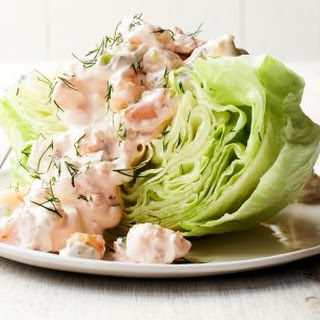 Creamy Shrimp and Dill Wedge Salad.