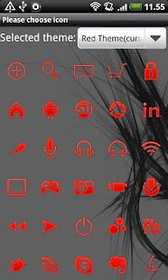 Red GO Launcher EX Theme - screenshot thumbnail