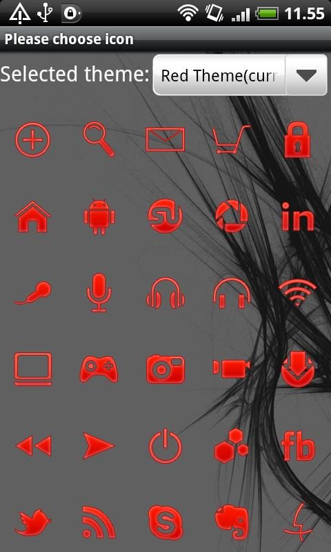 Red GO Launcher EX Theme - screenshot