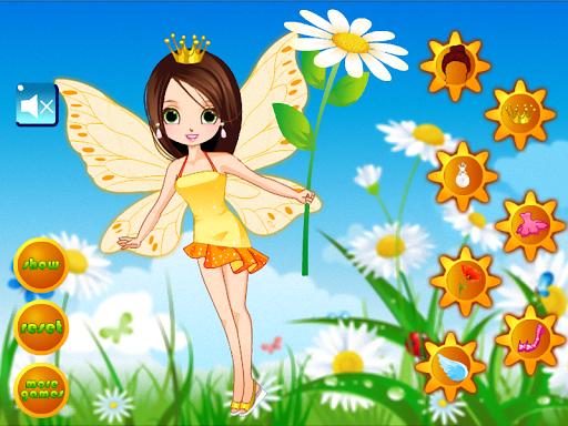 美しい妖精のドレスアップ