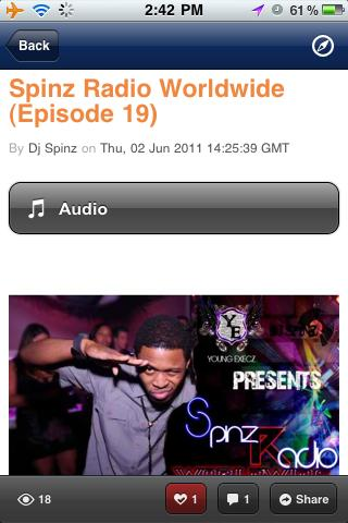 Spinz Radio Worldwide - screenshot