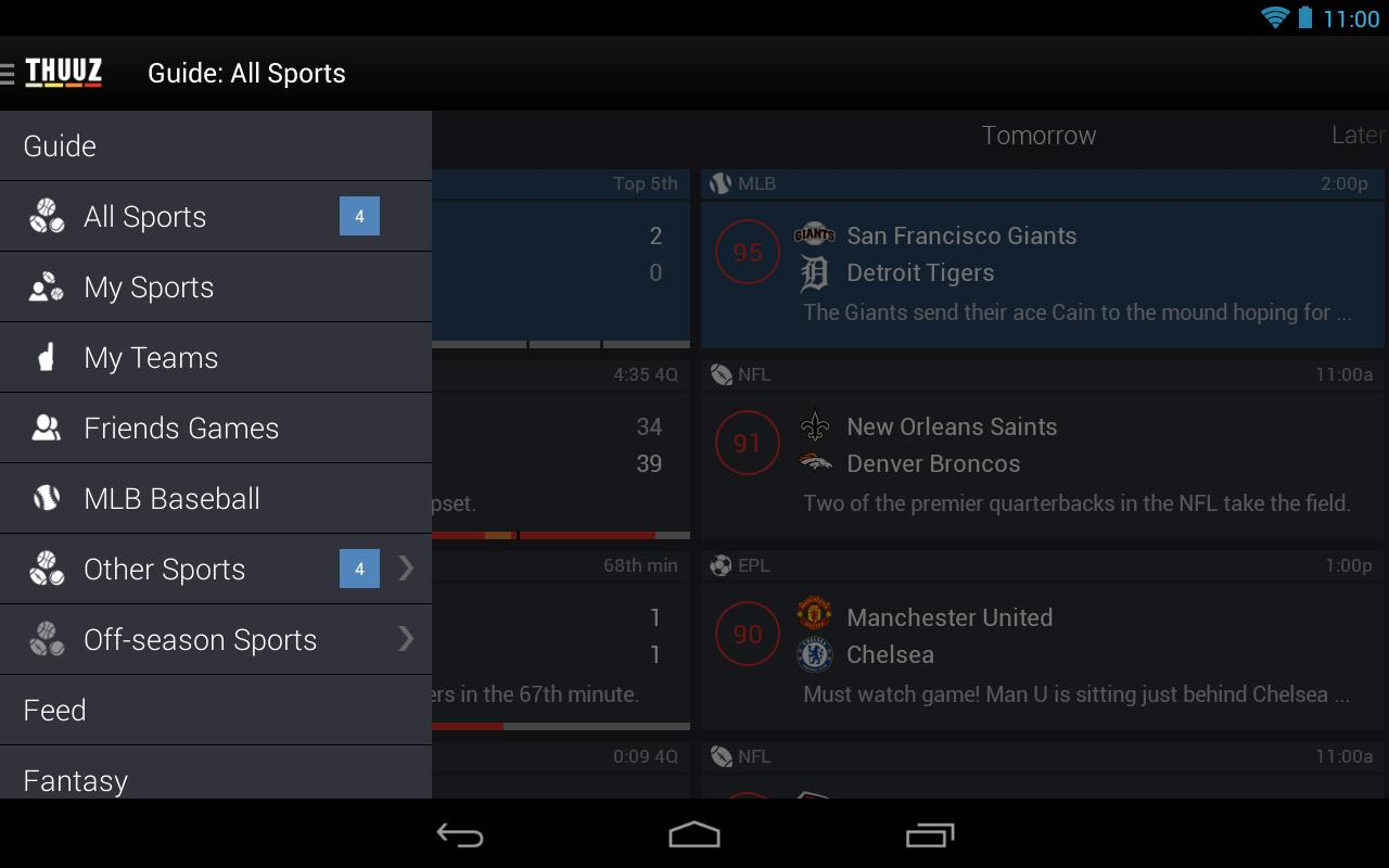 Thuuz Sports- screenshot