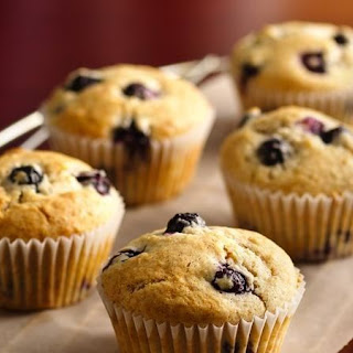 Spiced Blueberry Muffins