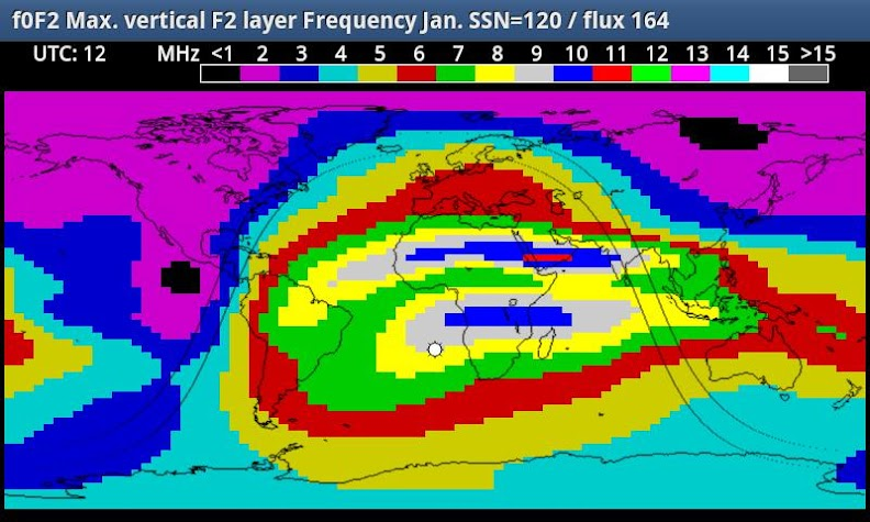 HF_MAP Sky Wave propagation Screenshot