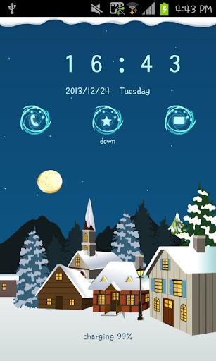 snow village go locker theme