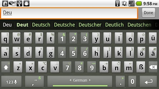 German Keyboard plugin – Miniaturansicht des Screenshots