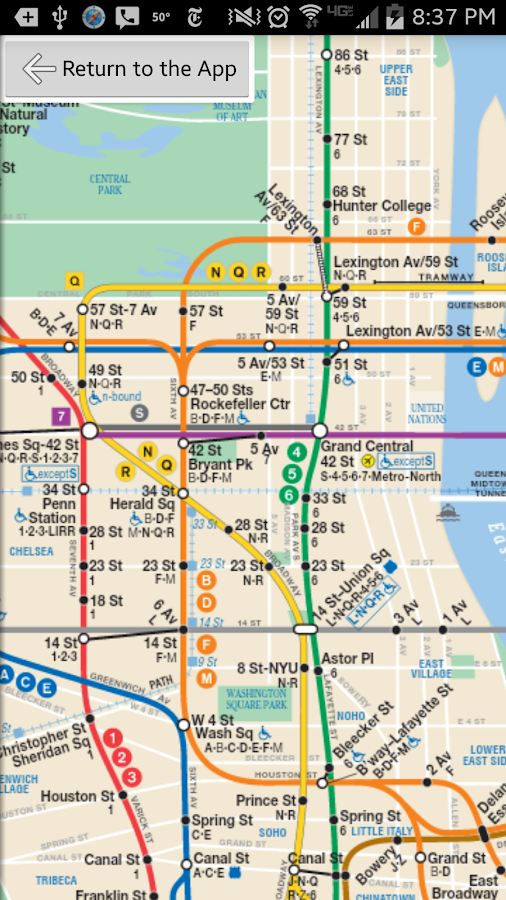 Ny Subway Schedule Map