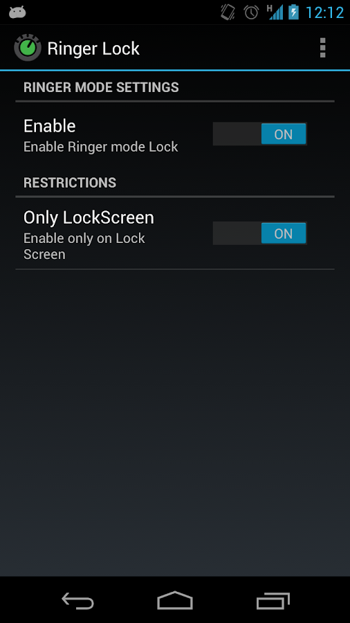Ringer Mode Lock- screenshot