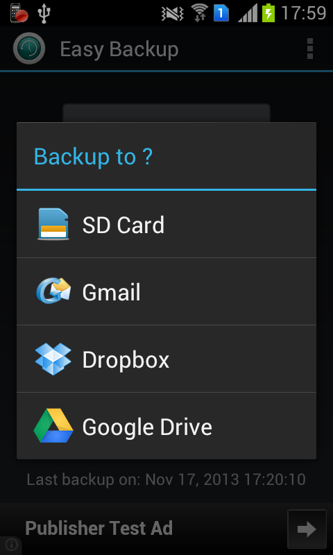 Easy Backup - screenshot