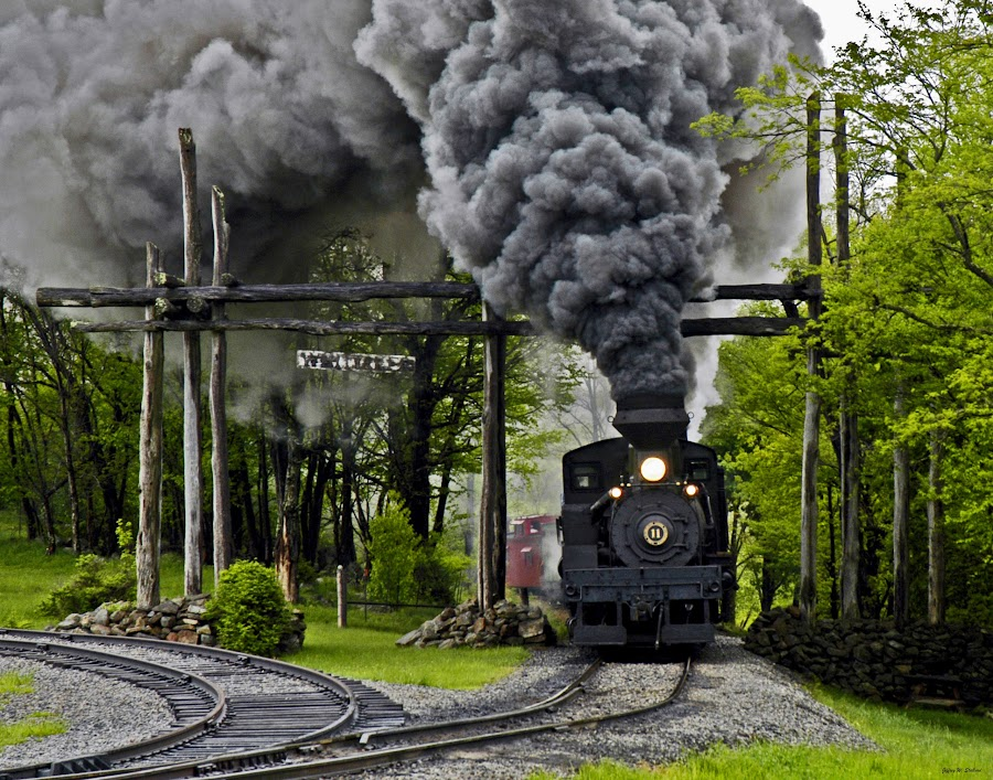 Entering Whitaker by Jeff Stallard - Transportation Trains ( steam engine, cass, west virginia, railroad, whitaker, logging, scenic )